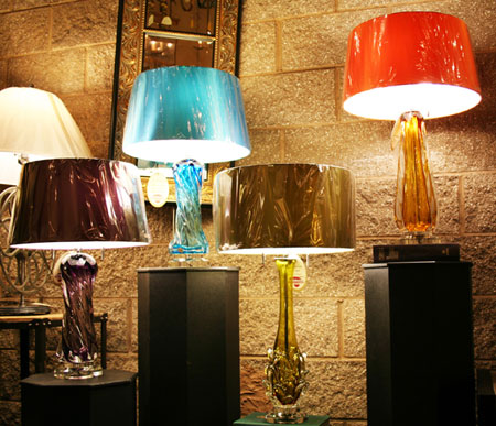 Art Glass Table Lamps Restoration Lighting Gallery