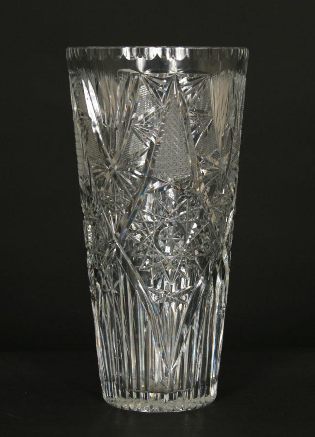 Antique American Brilliant Cut Crystal Vase C1900