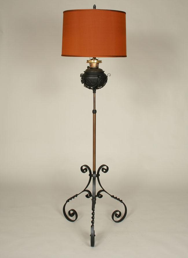 $599.95 Contact Us · Antique Victorian Oil Conversion Floor Lamp, C.19th  Century