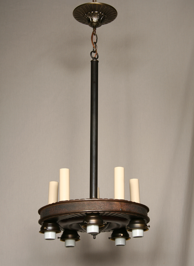 1199 95 contact us · art deco up down chandelier in bronze c 1930