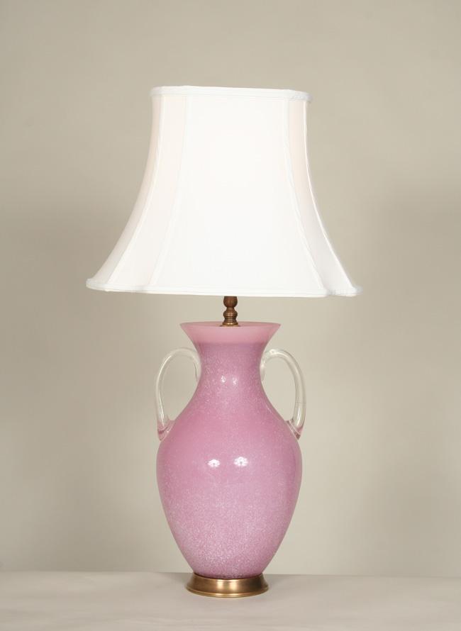 Vintage Wisteria Glass Vase With Handles C 1960