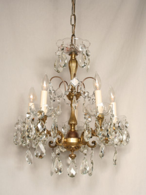 Beautiful Vintage Five-Light Spanish Chandelier, c. 1930