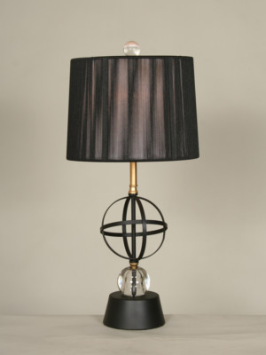 Vintage Mid Century Orb Table Lamp, c. 1960