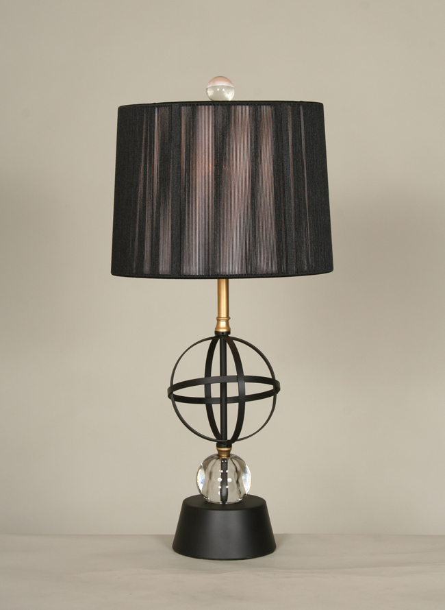 Vintage Mid Century Orb Table Lamp C 1960
