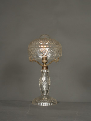 Vintage Art Deco Cut Glass Lamp, c. 1920