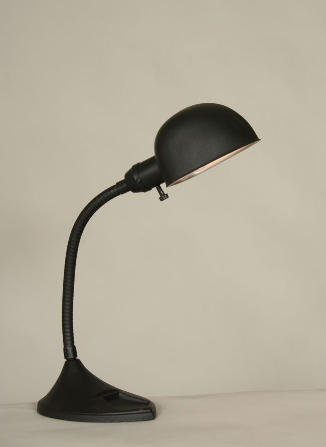 Vintage black articulated desk lamp c 1930