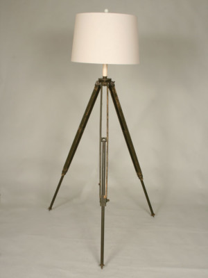 Surveyor's Tripod Floor Lamp, c. 1940