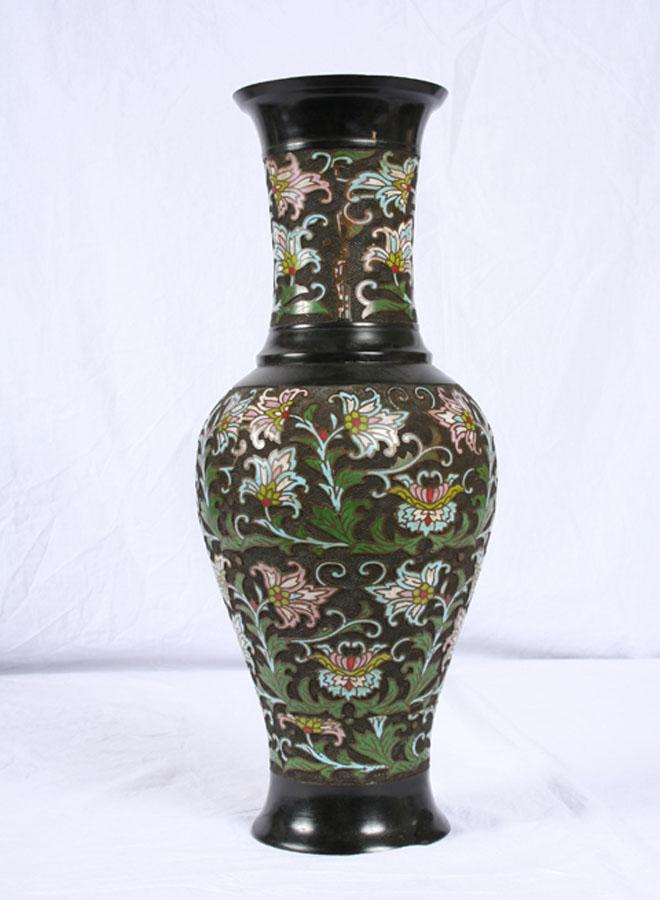 Antique Arabesque Champleve Vase C1900