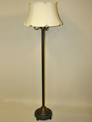 Vintage Six-Way Floor Lamp with Star Cutout Night Light Base, c. 1940