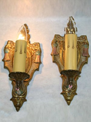 Pair of Spanish Revival Wall Sconces, c. 1920