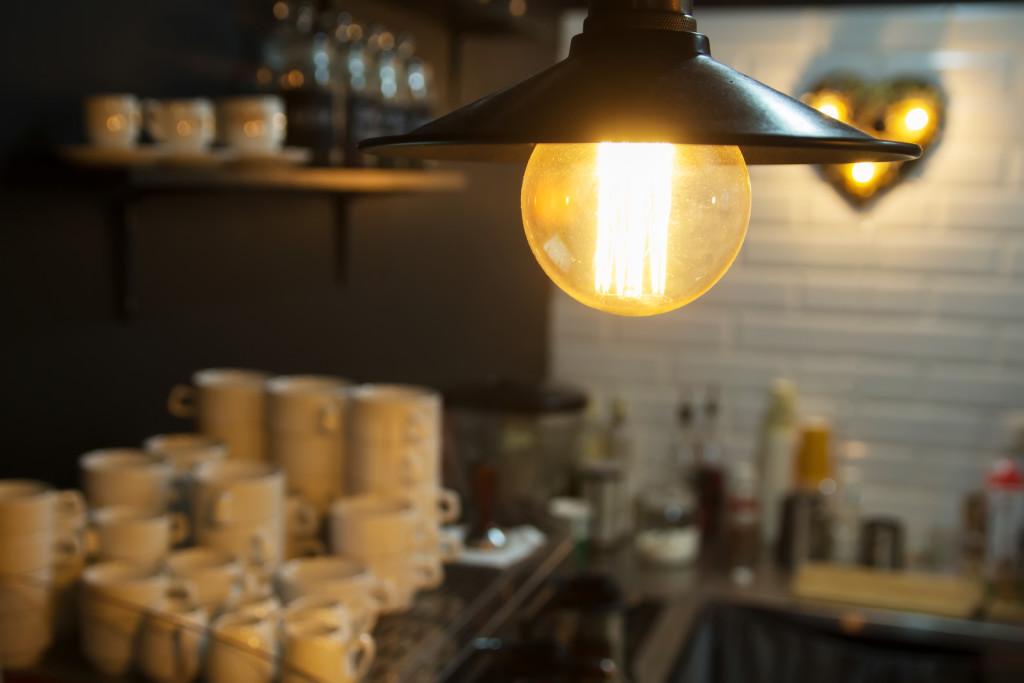 Edison light bulb pendant