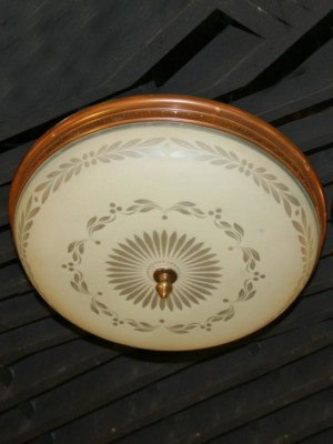 Large Vintage Flush Mount, c. 1930