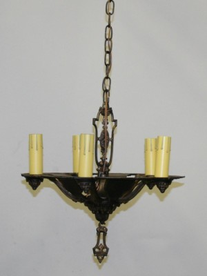 Romance Revival Fixture with Polychrome Finish, c. 1920