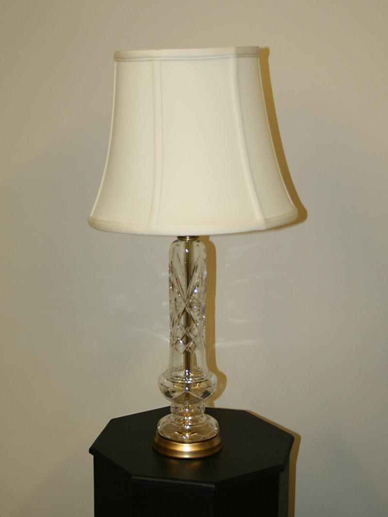 Cut glass table lamp with brass accents c 1960 fluted cut glass table lamp with brass accents c 1960 mozeypictures Gallery