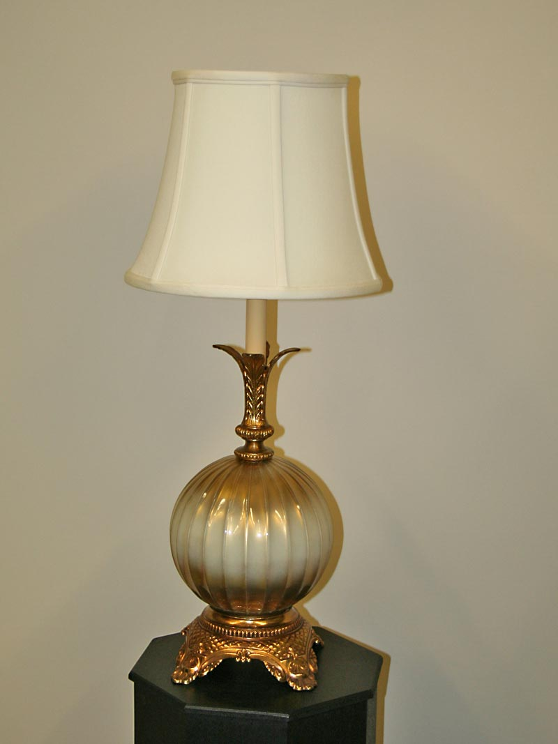 Hollywood Regency Lamp W/ Mercury Ball Body, C. 1960